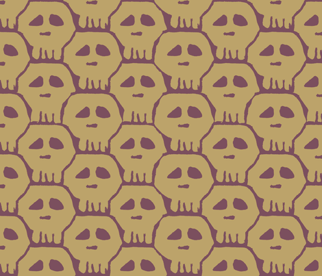 drab numbskulls fabric by chopsuey on Spoonflower - custom fabric