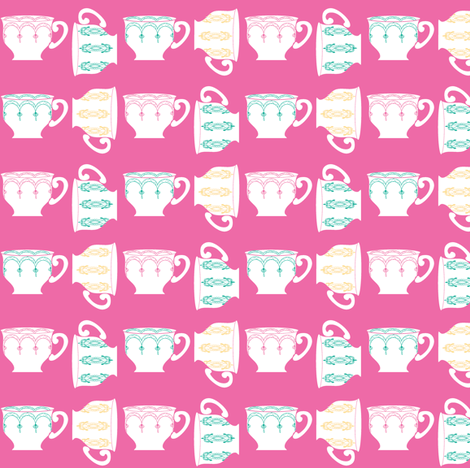Berry tea©jill bull fabric by palmrowprints on Spoonflower - custom fabric