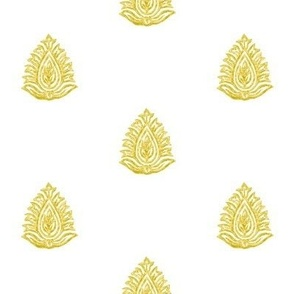 Regency Imperial Leaf Dimensional Brass