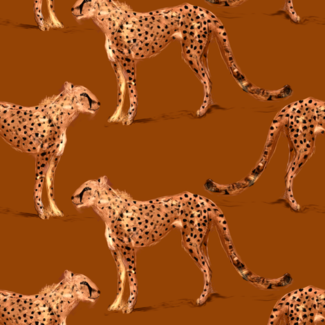 Cheetah fabric by eclectic_house on Spoonflower - custom fabric