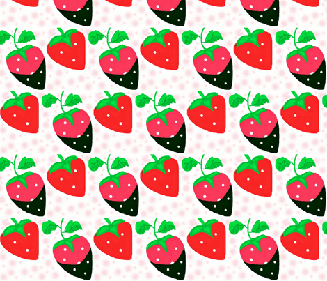strawberry patch 3 fabric by dk_designs on Spoonflower - custom fabric