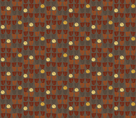 Pods and Seeds fabric by kcs on Spoonflower - custom fabric