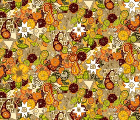 mulled zest paisley fabric by scrummy on Spoonflower - custom fabric