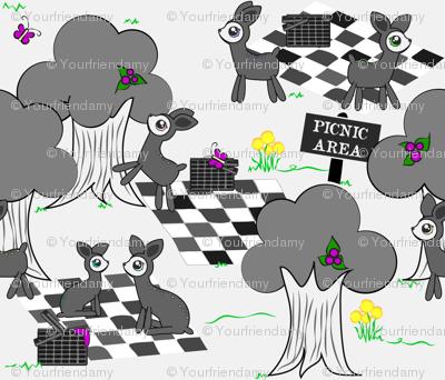 Deer Family Picnic