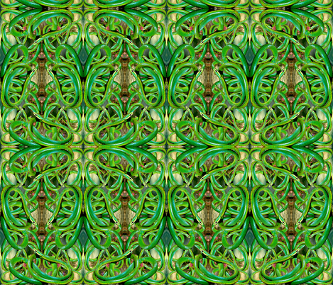 Green Snake Ballet fabric by whimzwhirled on Spoonflower - custom fabric