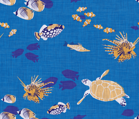 Tiki Reef fabric by thecalvarium on Spoonflower - custom fabric