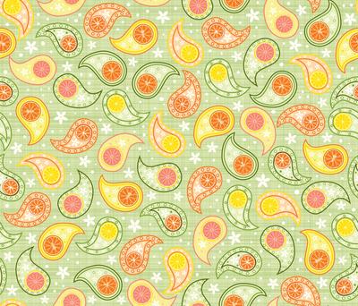 Citrus Paisley