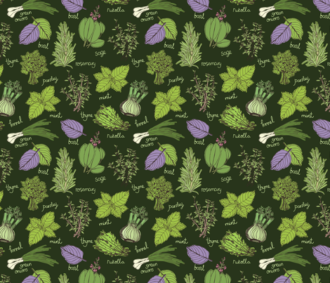 Herbs_seamless_pattern fabric by nenilkime on Spoonflower - custom fabric