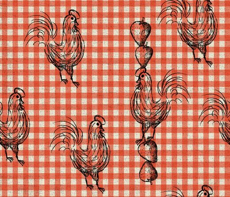 FARMER_GINGHAM fabric by hanamidandy on Spoonflower - custom fabric