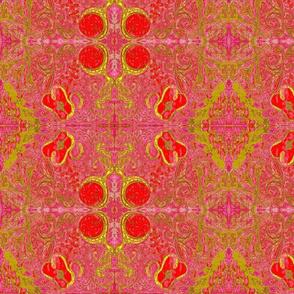 raspberry tapestry