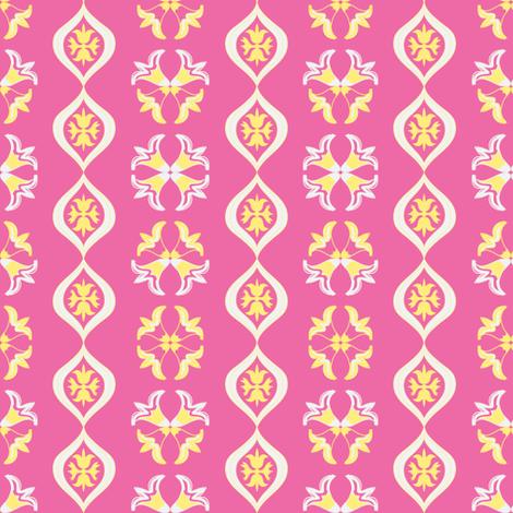 garden tea (rose)l ©2012 Jill Bull-ch-ch-ch-ch-ch-ch-ch-ch-ch-ch fabric by palmrowprints on Spoonflower - custom fabric