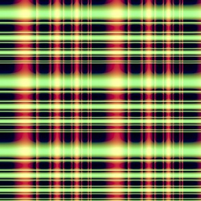tartan plaid green fushia