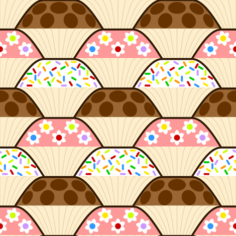 cupcakes 1x fabric by sef on Spoonflower - custom fabric