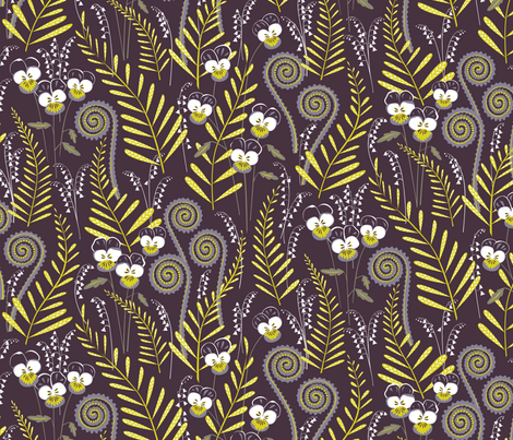 Love-in-idleness fabric by jillbyers on Spoonflower - custom fabric
