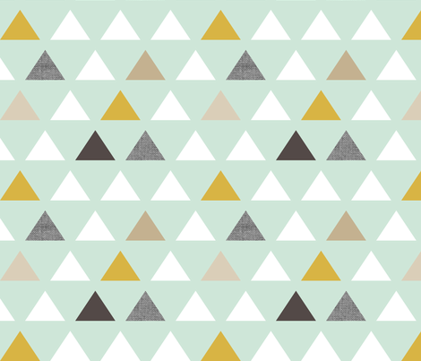 mod mint triangles fabric by mrshervi on Spoonflower - custom fabric