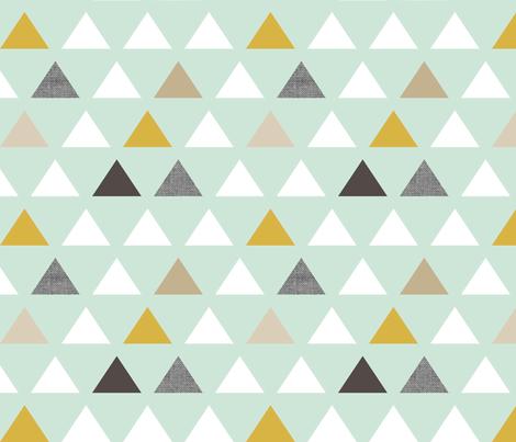 mod mint triangles fabric by mrshervi on Spoonflower - custom fabric