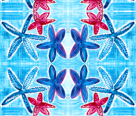 cestlaviv_star fish 4 fabric by cest_la_viv on Spoonflower - custom fabric