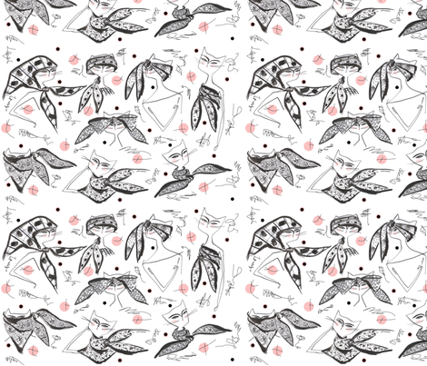 how_to_tie_a_scarf-1_copy_copy fabric by diana_marye on Spoonflower - custom fabric
