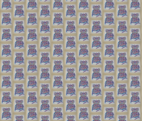 Purple Owl fabric by awillman on Spoonflower - custom fabric