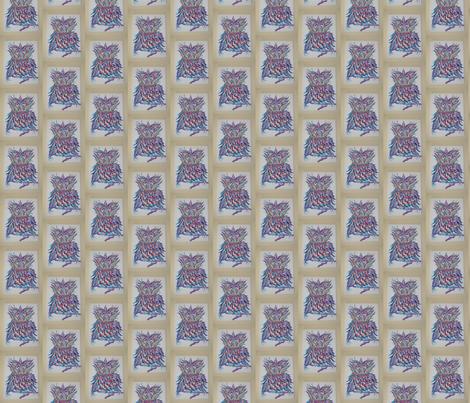 Purple Owl fabric by awillman on Spoonflower - custom fabric