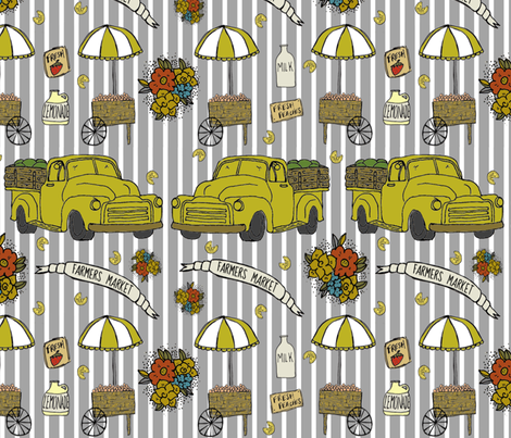 Grand Ole Market fabric by belovedinnyc on Spoonflower - custom fabric