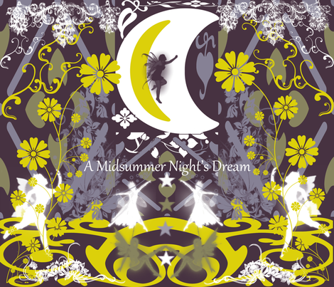 Midsummer Night'sDream (The Fairy Tale) fabric by charldia on Spoonflower - custom fabric