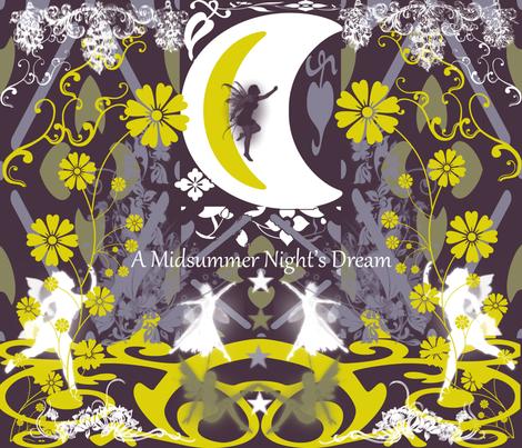Midsummer Night'sDream (The Fairy Tale) fabric by charldia on Spoonflower - custom fabric