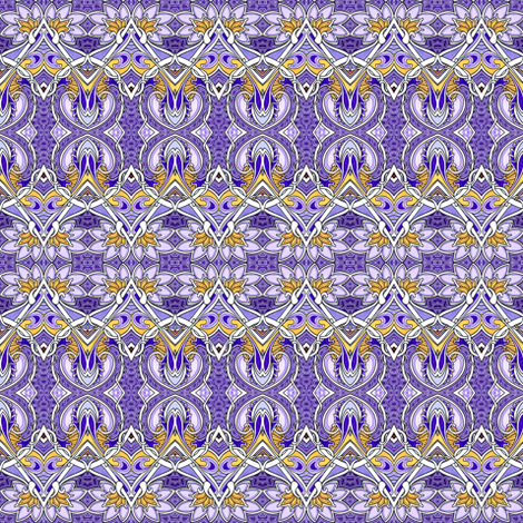 Picking Purple Posies horizontal stripe fabric by edsel2084 on Spoonflower - custom fabric