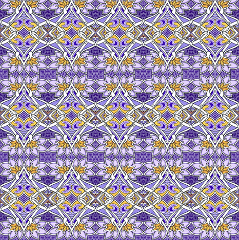 Picking Purple Posies starry version fabric by edsel2084 on Spoonflower - custom fabric
