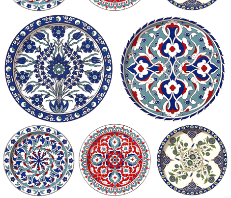 China Plates fabric by peacoquettedesigns on Spoonflower - custom fabric