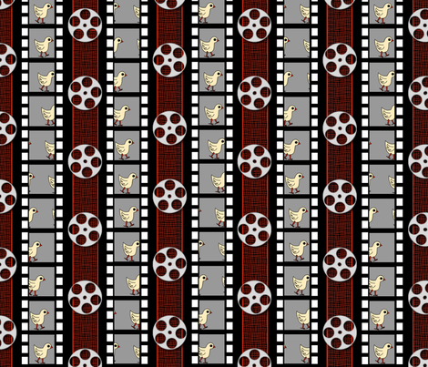 Chick  flicks synergy0009 large fabric by glimmericks on Spoonflower - custom fabric