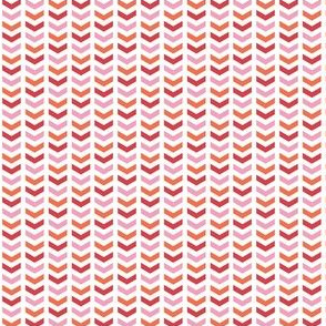 {everyday} herringbone pink orange red