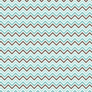 {everyday} chevron teal blue brown