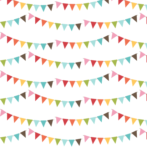 {everyday} bunting fabric by misstiina on Spoonflower - custom fabric
