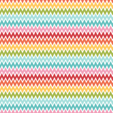 {everyday} chevron multi fabric by misstiina on Spoonflower - custom fabric