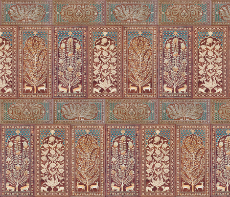 Nonsuch Palace Wood Panels fabric by peacoquettedesigns on Spoonflower - custom fabric