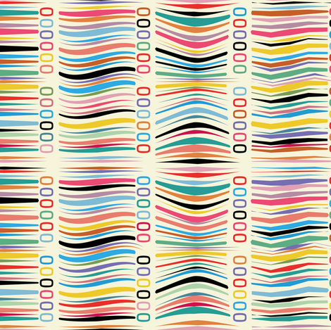 Geek Lines fabric by cassiopee on Spoonflower - custom fabric