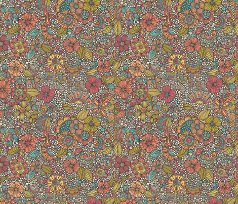 Garden of doodles fabric by valentinaharper on Spoonflower - custom fabric