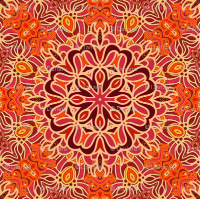 Decorative red orient pattern