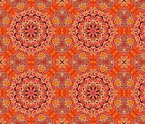 Decorative red orient pattern fabric by dariara on Spoonflower - custom fabric