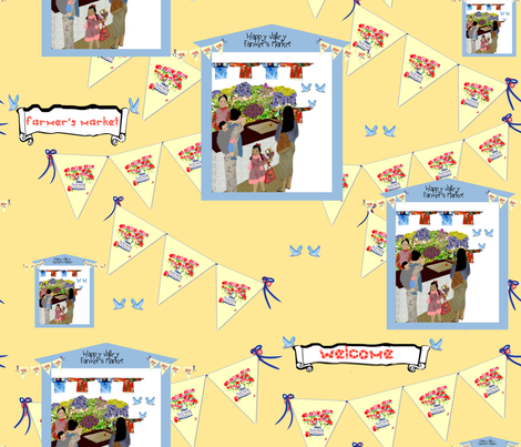Happy Valley Farmer's Market fabric by karenharveycox on Spoonflower - custom fabric