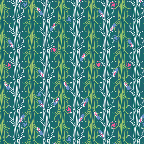 lily leaf synergy0011 fabric by glimmericks on Spoonflower - custom fabric