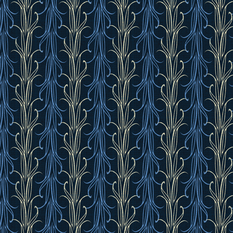 lily leaf blue twilight synergy0010 fabric by glimmericks on Spoonflower - custom fabric