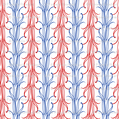 lily leaf red white and blue synergy0006