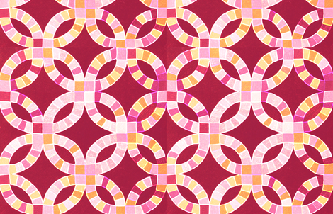 double wedding cheater quilt fabric by keweenawchris on Spoonflower - custom fabric