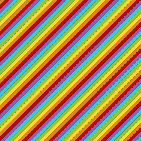Diagonal Rainbow fabric by sufficiency on Spoonflower - custom fabric