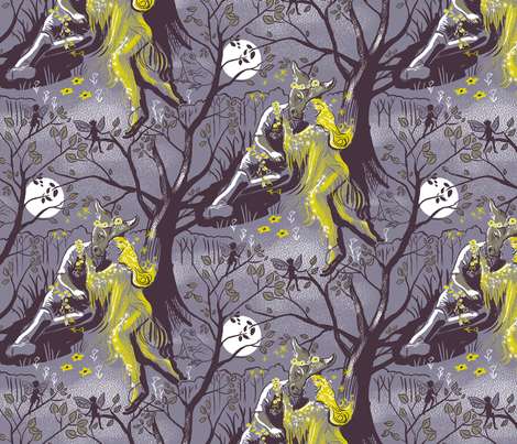 Midsummer Night 2 Large fabric by vinpauld on Spoonflower - custom fabric