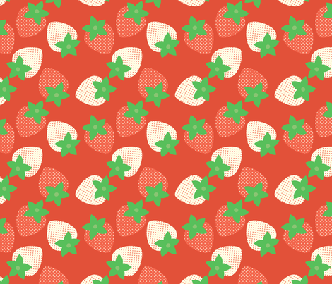 Red Berry Fields fabric by hugandkiss on Spoonflower - custom fabric