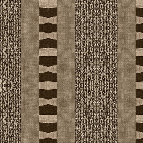 Afrikan Stripe - brown, beige