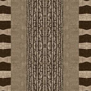 Afrikan Stripe - brown, beige